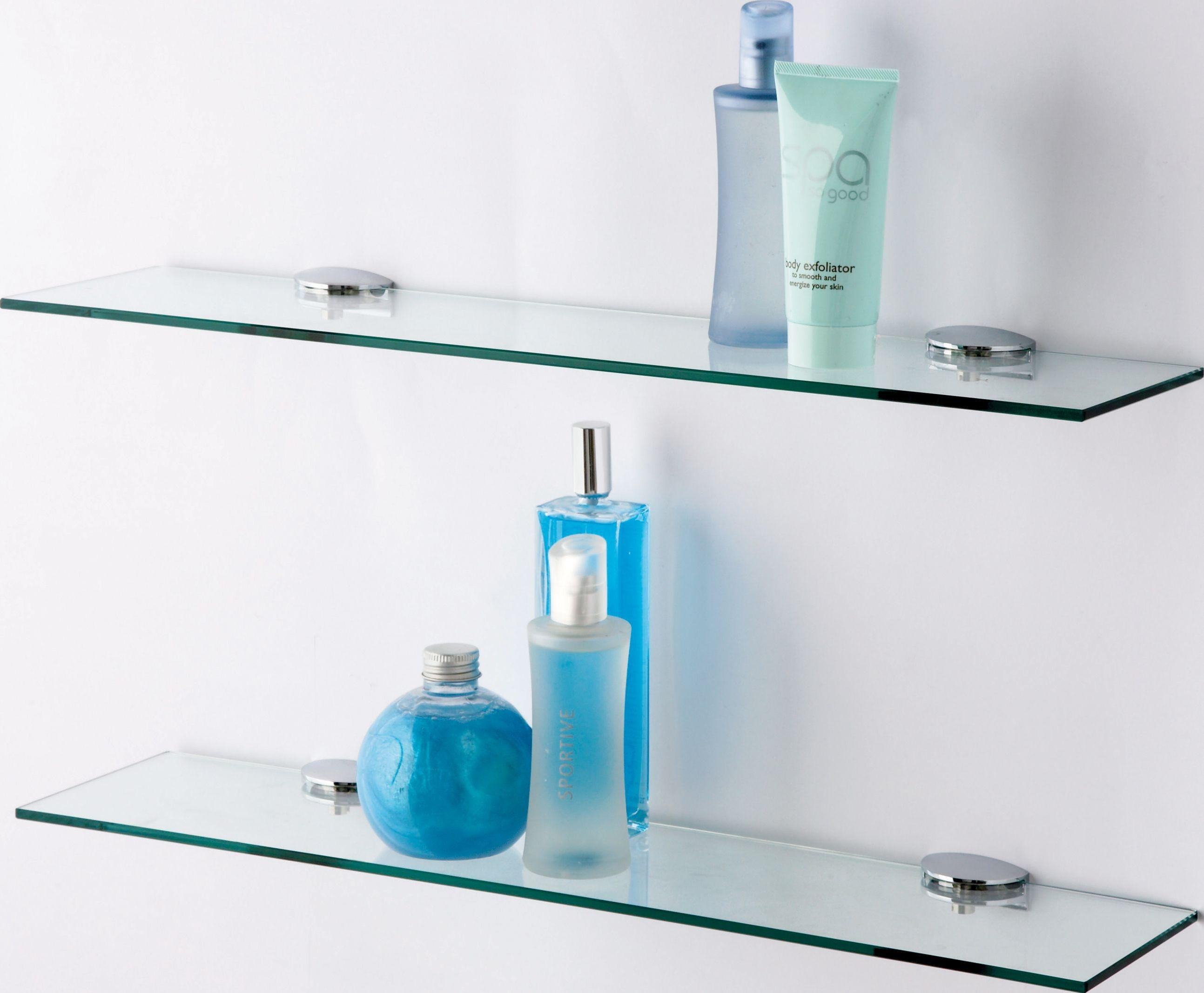 Buy HOME Glass Shelves Pack of 2 at Argoscouk Your Online