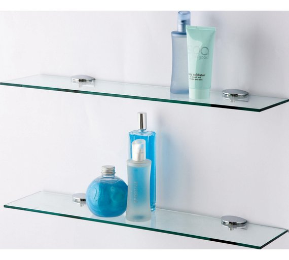 click to zoom - Bathroom Glass Shelves