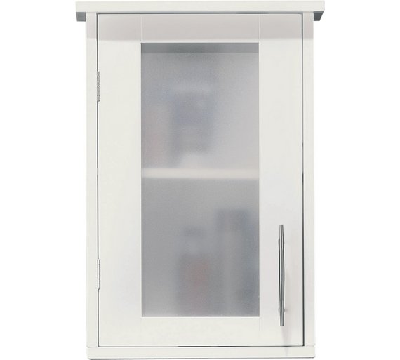 Buy Hygena Frosted Insert Bathroom Wall Cabinet - White at Argos ...