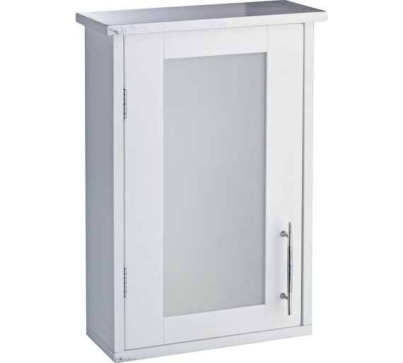 bathroom wall cabinet white. Hygena Frosted Insert Bathroom Wall Cabinet White Buy at Argos  Home Design Plan