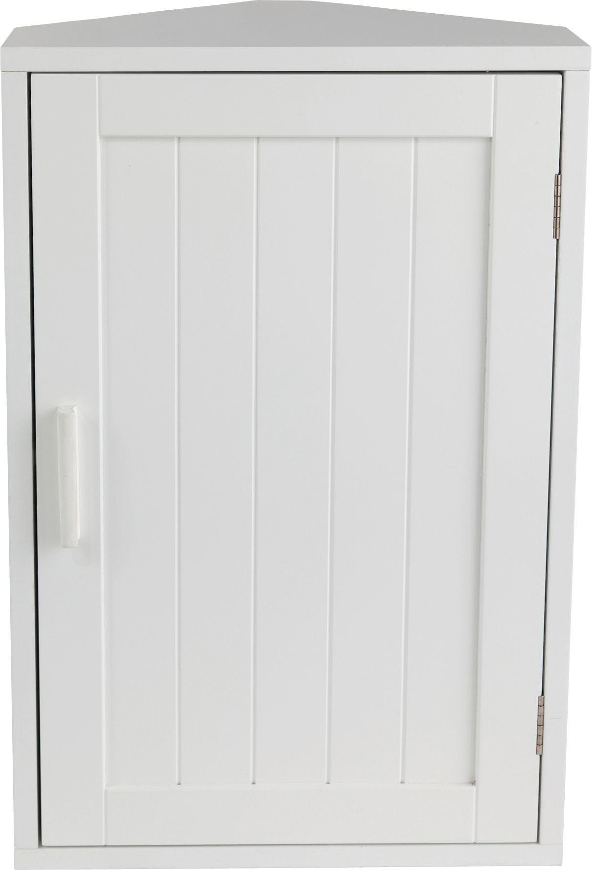 Buy Home Wooden Corner Bathroom Cabinet White At Argos Co Uk