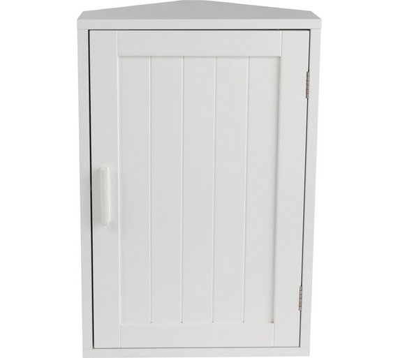 Loading. - Buy HOME Wooden Corner Bathroom Cabinet - White At Argos.co.uk