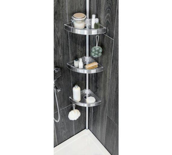 Buy HOME Floor to Ceiling Aluminium Shower Organiser Pole | Bathroom ...