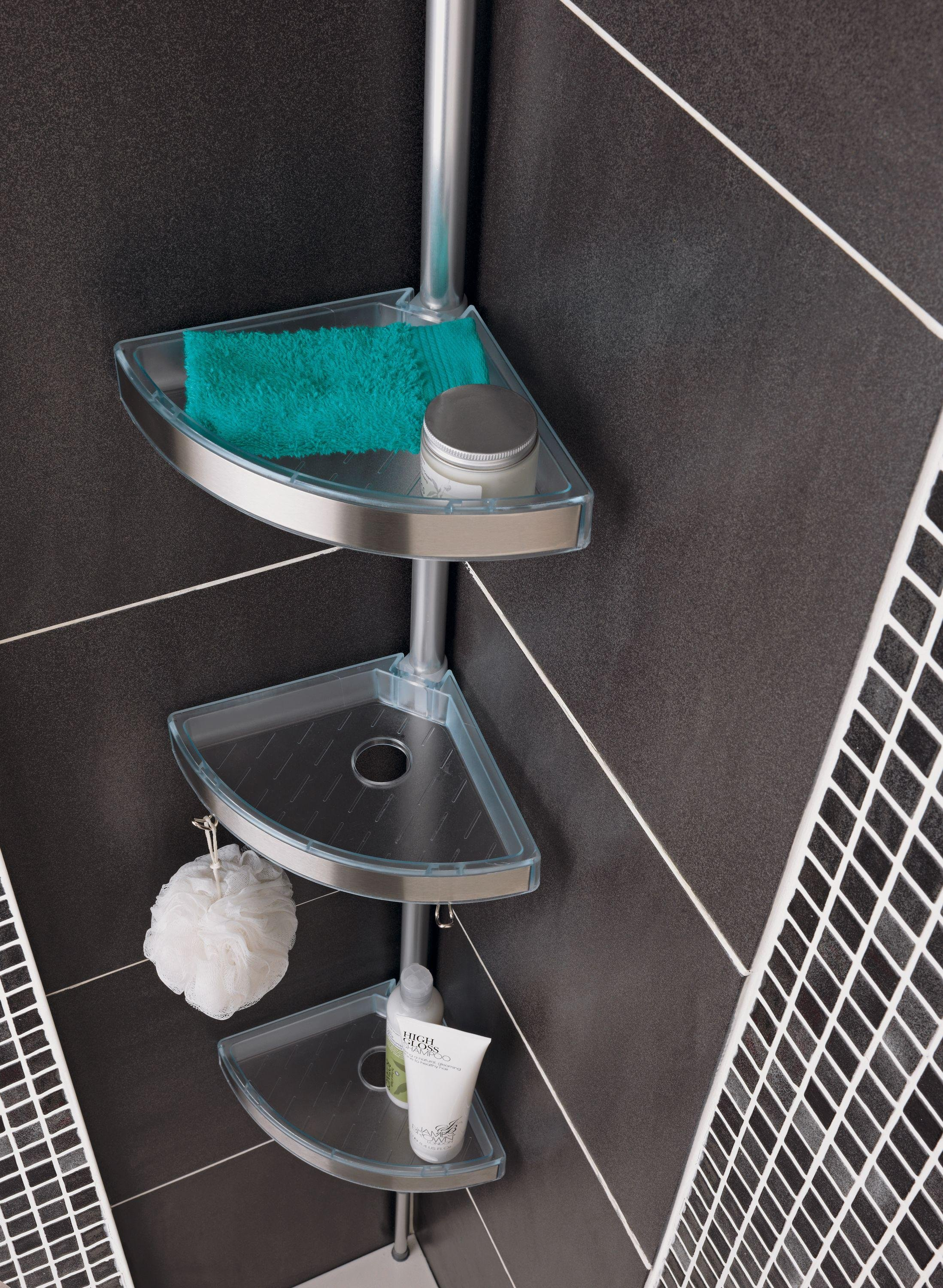 Shower Pole Caddy Stainless Tension Pole Shower Caddy In