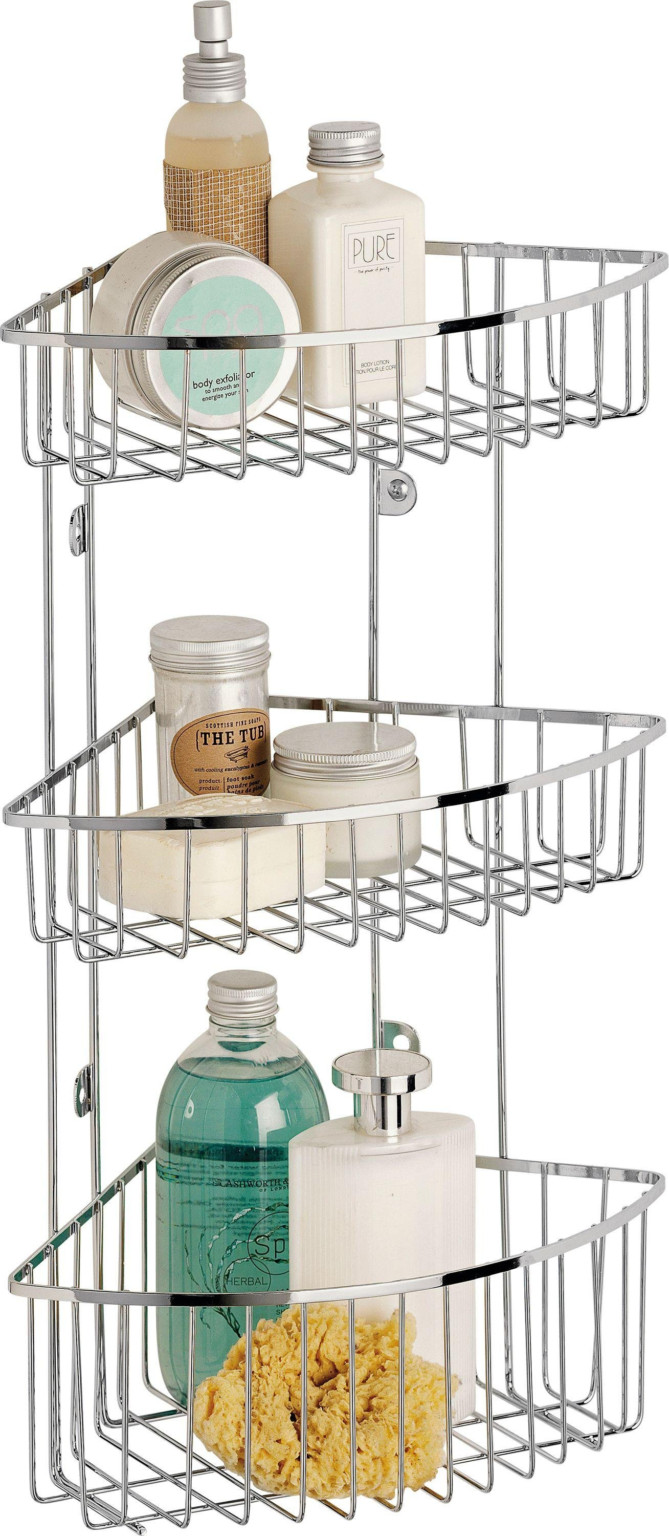 home-3-tier-wall-mounted-chrome-shower-caddy