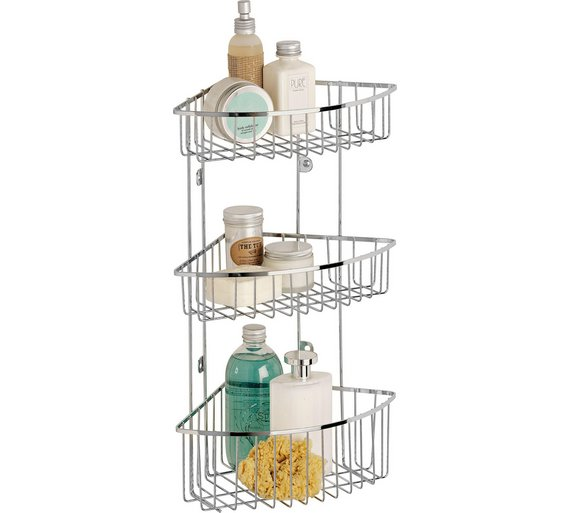 Buy Argos Home 3 Tier Wall Mounted Chrome Shower Caddy | Bathroom ...