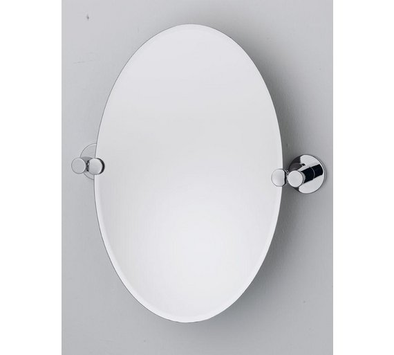 Buy collection oval tilting bevelled bathroom mirror at for Where to find mirrors
