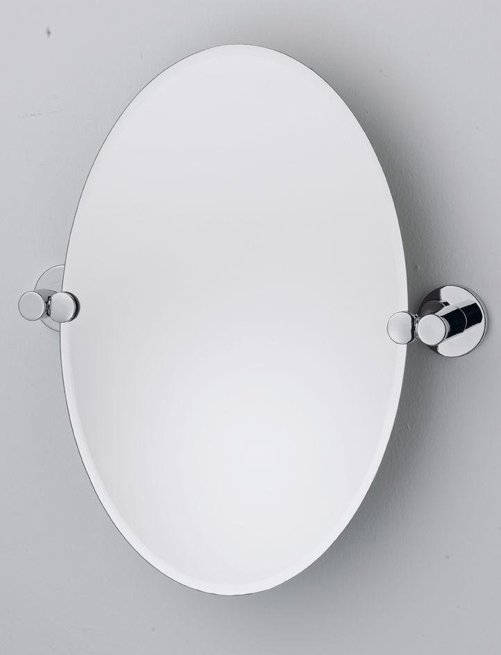 Collection Oval Tilting Bevelled Bathroom Mirror