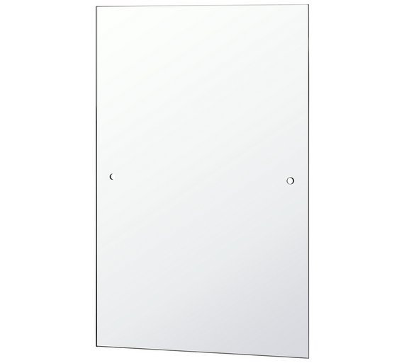 Buy home silver rectangular bathroom mirror at - Silver bathroom mirror rectangular ...