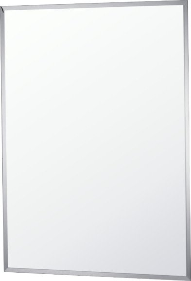 Argos Home Rectangular Bevelled Bathroom Mirror - Silver