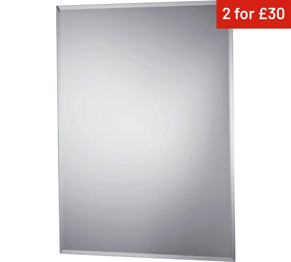 Collection Rectangular Bevelled Bathroom Mirror