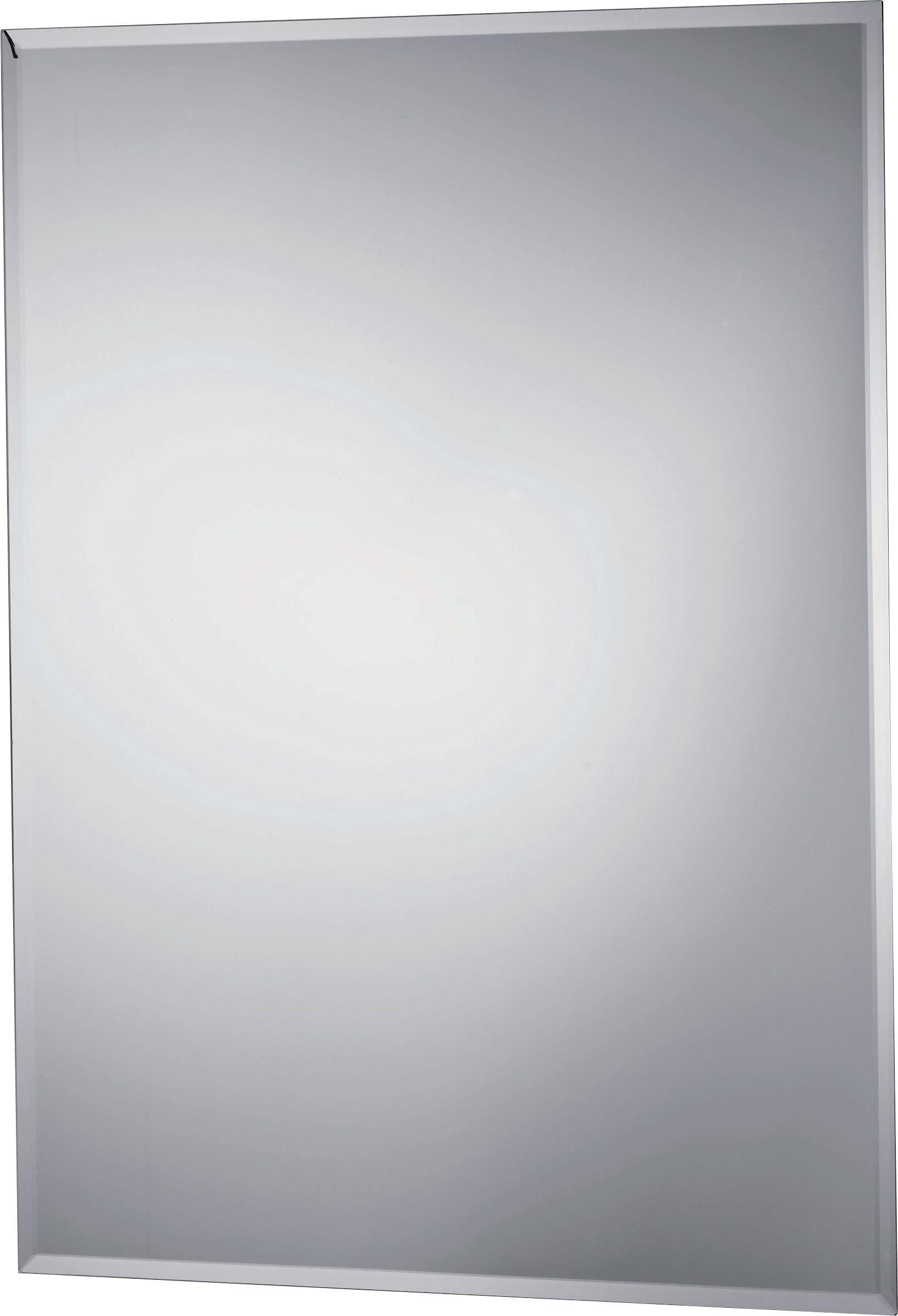 Bathroom Mirror Uk buy collection rectangular bevelled bathroom mirror - silver at
