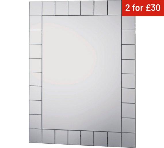 Collection Rectangular Mosaic Bathroom Mirror