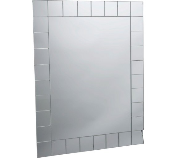 Buy Collection Rectangular Mosaic Bathroom Mirror At Argoscouk