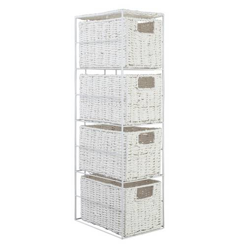 Buy Argos Home Slimline 4 Drawer Storage Tower White