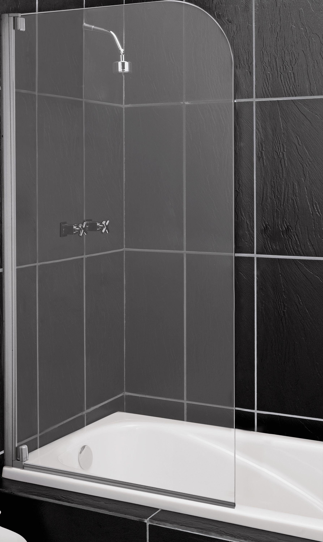 Argos Home Half Framed Single Radius Bath Shower Screen