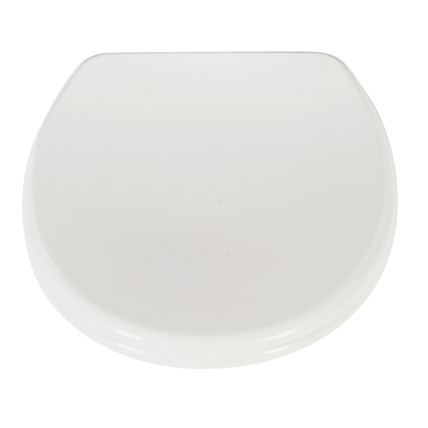 HOME Thermoplastic Slow Close Easy Clean Toilet Seat - White