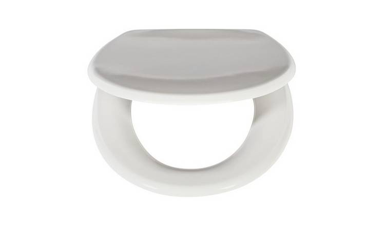 Square Soft Close White Toilet Seat Top Fixing Easy Clean Modern Design UK Stock