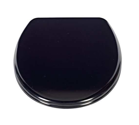 easy home toilet seat. HOME Thermoplastic Slow Close Easy Clean Toilet Seat  Black Buy at