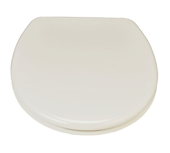cream toilet seat soft close. HOME Thermoplastic Slow Close Easy Clean Toilet Seat  Cream Buy