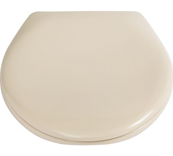 Buy HOME Thermoplastic Slow Close Easy Clean Toilet Seat - Cream ...