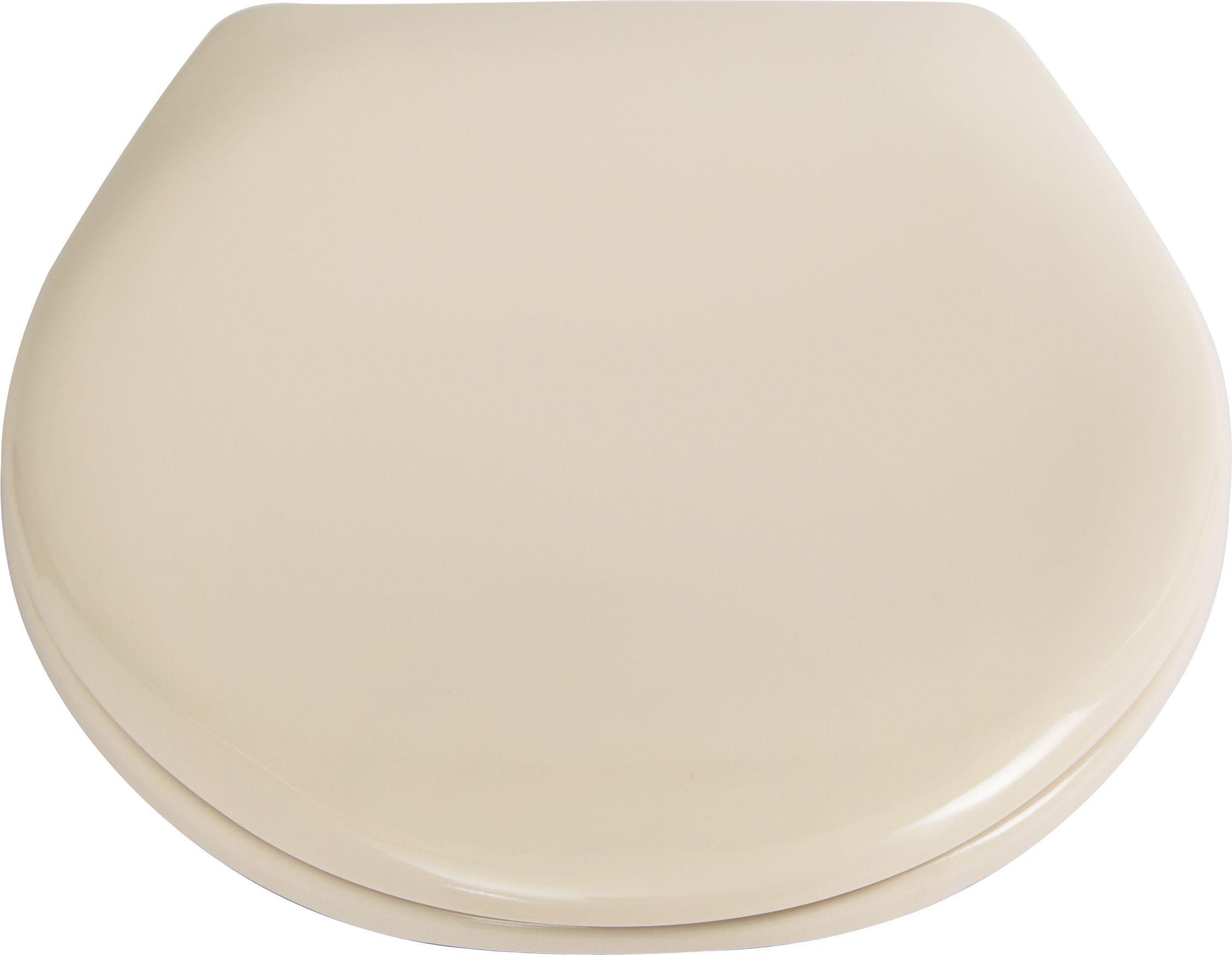 Buy HOME Thermoplastic Slow Close Easy Clean Toilet Seat Cream