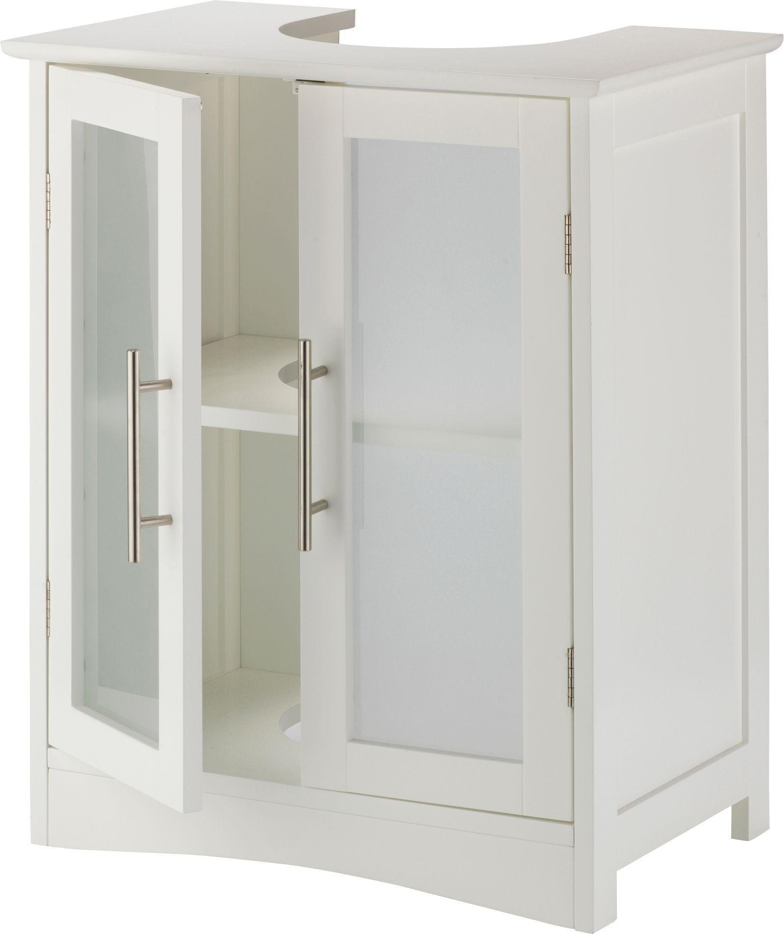 white under sink basin storage vanity unit bathroom. Black Bedroom Furniture Sets. Home Design Ideas