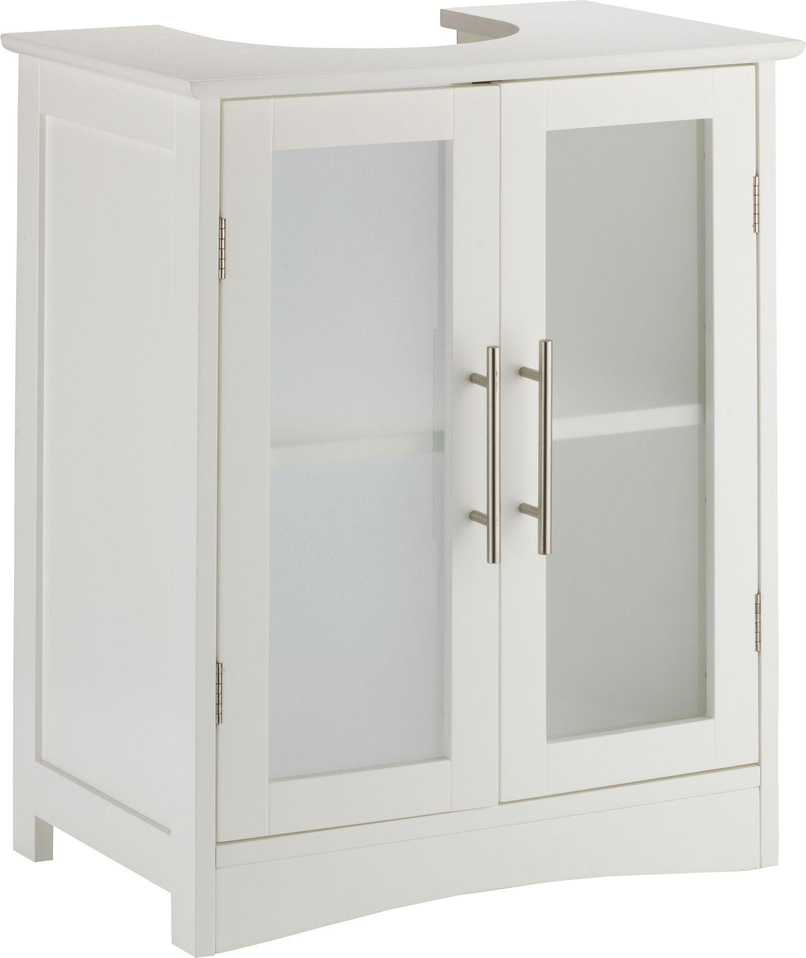 White Under Sink Basin Storage Vanity Unit Bathroom Cabinet Cupboard Caddy Shelf Ebay