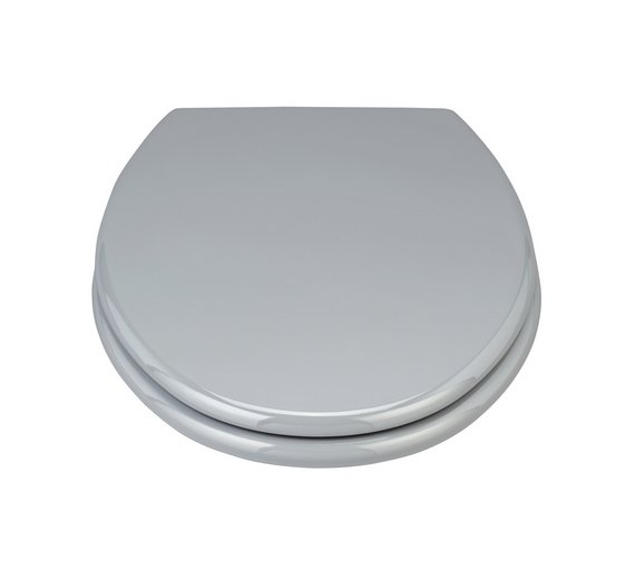 dark grey toilet seat. ColourMatch Moulded Wood Toilet Seat  Flint Grey Buy seats