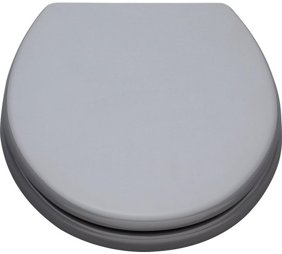 ColourMatch Moulded Wood Toilet Seat   Flint GreyBuy ColourMatch Moulded Wood Toilet Seat   Flint Grey at Argos co  . Dark Grey Toilet Seat. Home Design Ideas