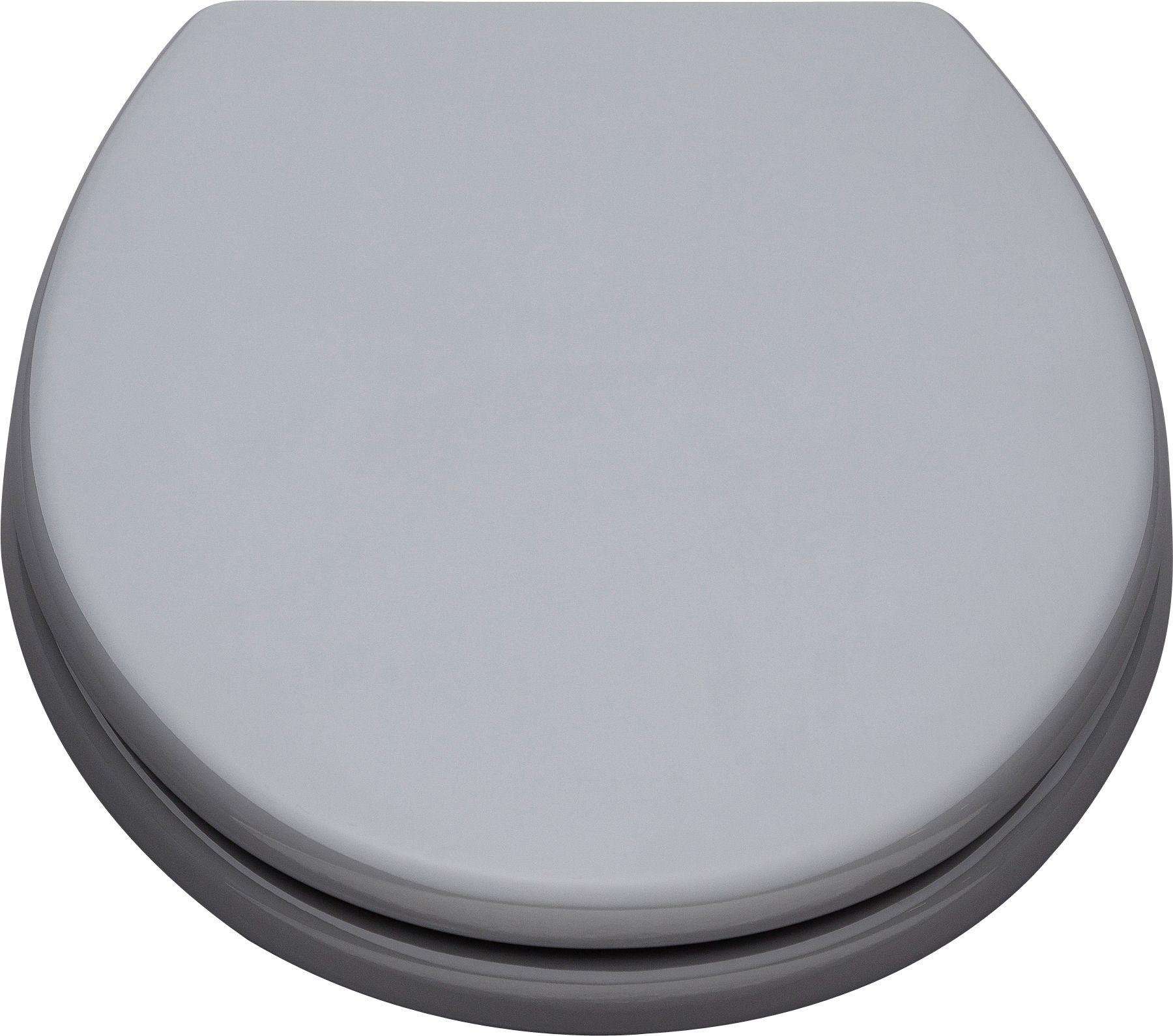 colourmatch moulded wood toilet seat flint grey