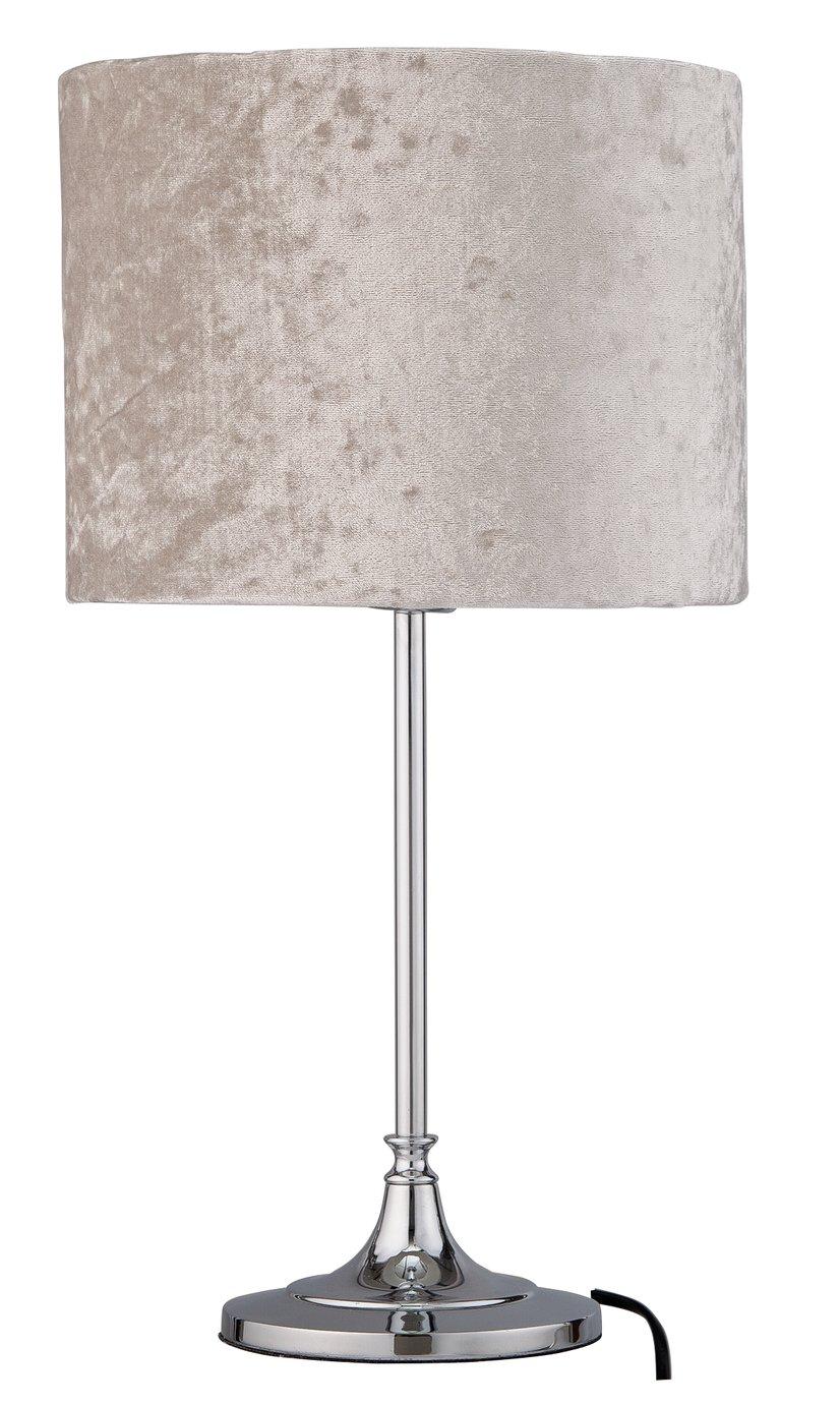 Argos Home Venice Velvet Table Lamp - Silver Grey