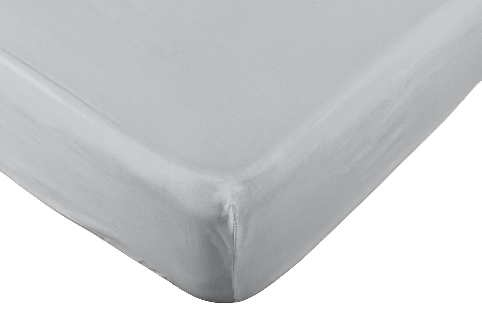Argos Home 200 TC Grey Fitted Sheet - Superking