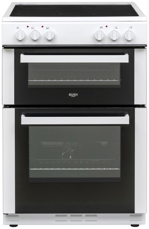 bush bt60elw electric cooker white 8338262 argos. Black Bedroom Furniture Sets. Home Design Ideas