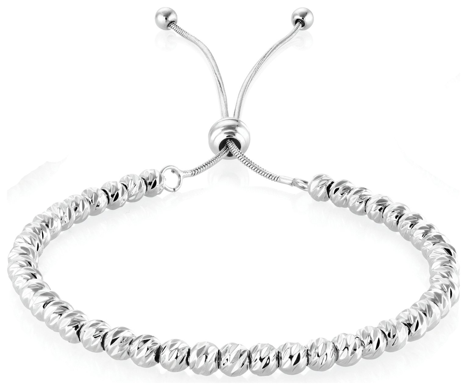 Buckley Silver Colour Soho Diamond Cut Bracelet