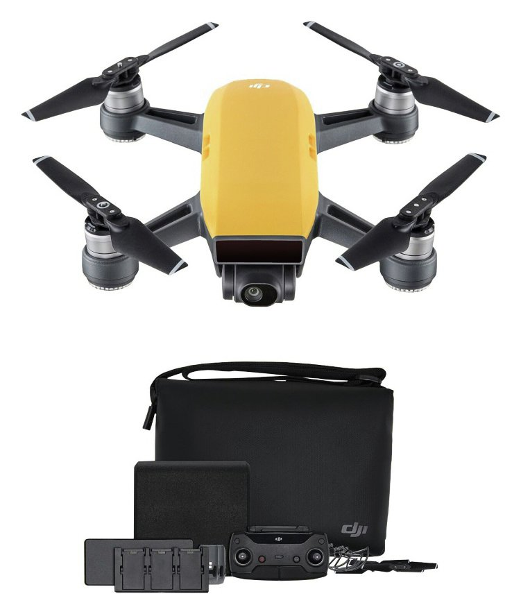 Image of DJI Spark Drone Fly More Combo - Yellow