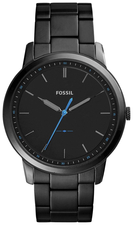 Fossil Minimalist Men's Black Stainless Steel Watch