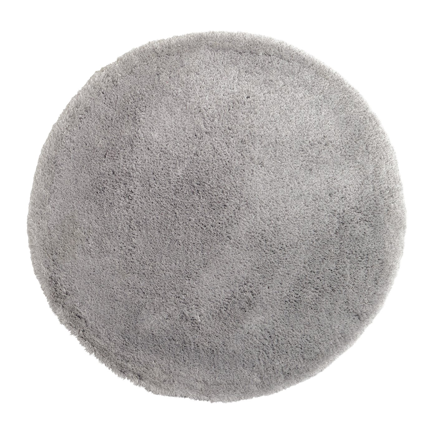 Argos Home Snuggle Shaggy Circle Rug - Dove Grey