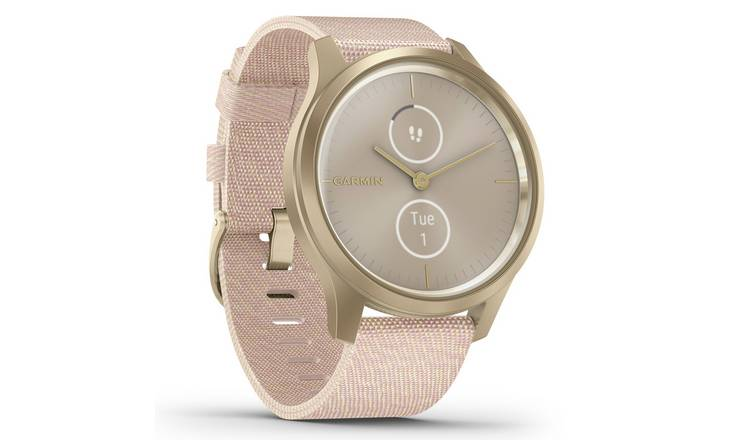 Garmin Vivomove Style Smart Watch Light Gold/Blush Pink Band