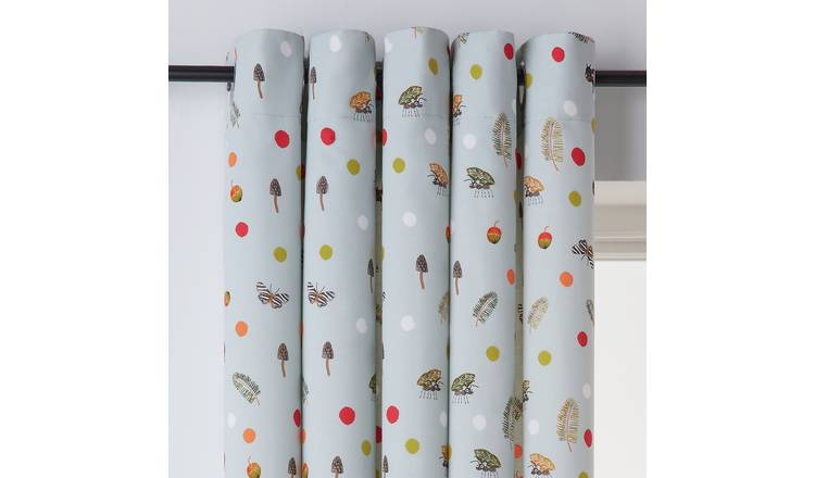 Argos Home Insect Fully Lined Eyelet Curtains