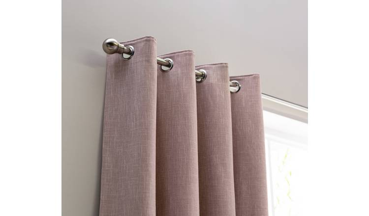 Habitat Blackout Fully Lined Eyelet Curtains - Blush