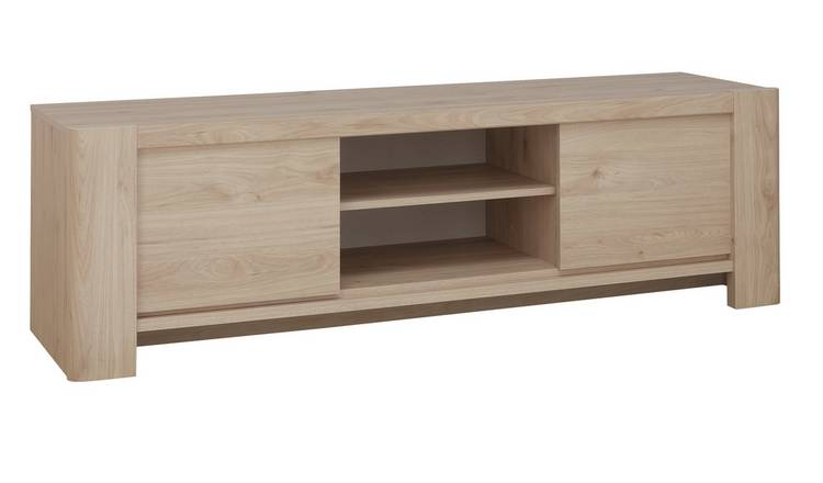 Portland 2 Door TV Unit - Oak