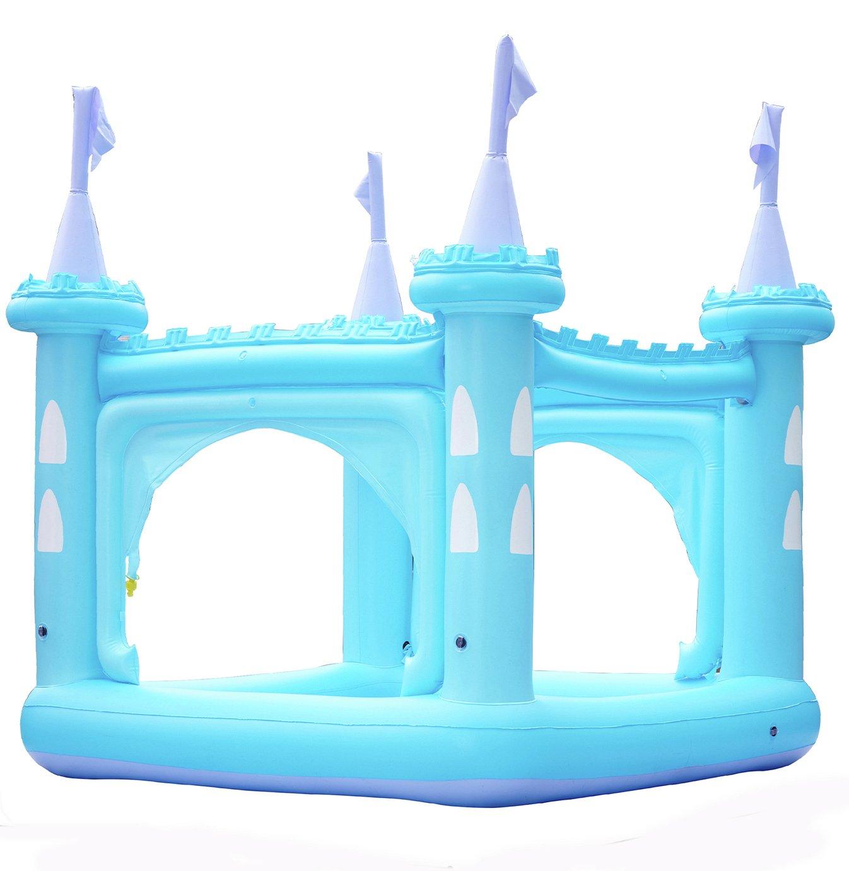 Teamson Kids 8ft Water Fun Blue Castle Kids Paddling Pool