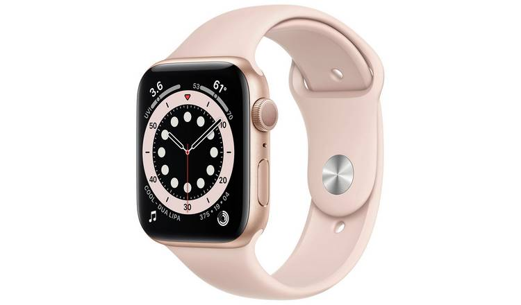 Apple Watch S6 GPS 44mm Gold Alu Case/Pink Sand Sport Band