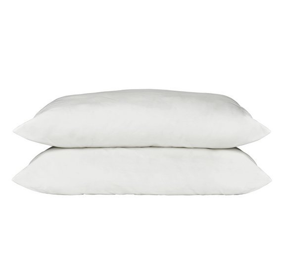 Argos Home Supersoft Washable Pair of Medium Pillows