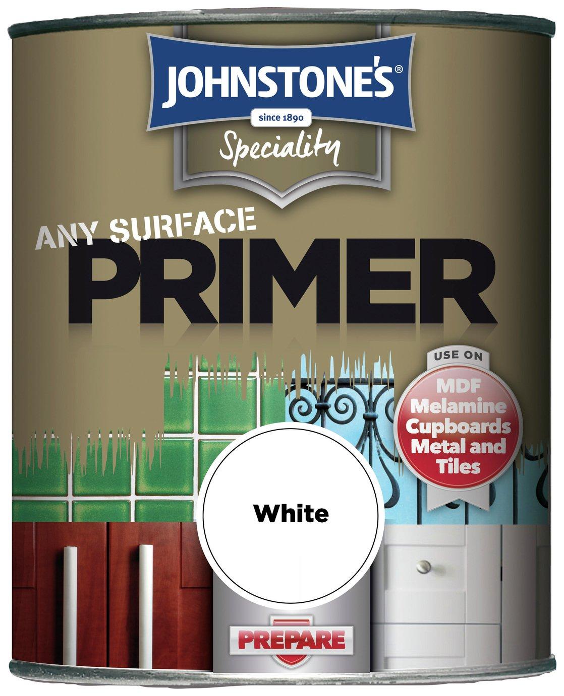 Johnstone's Any Surface Primer Paint 750ml - White