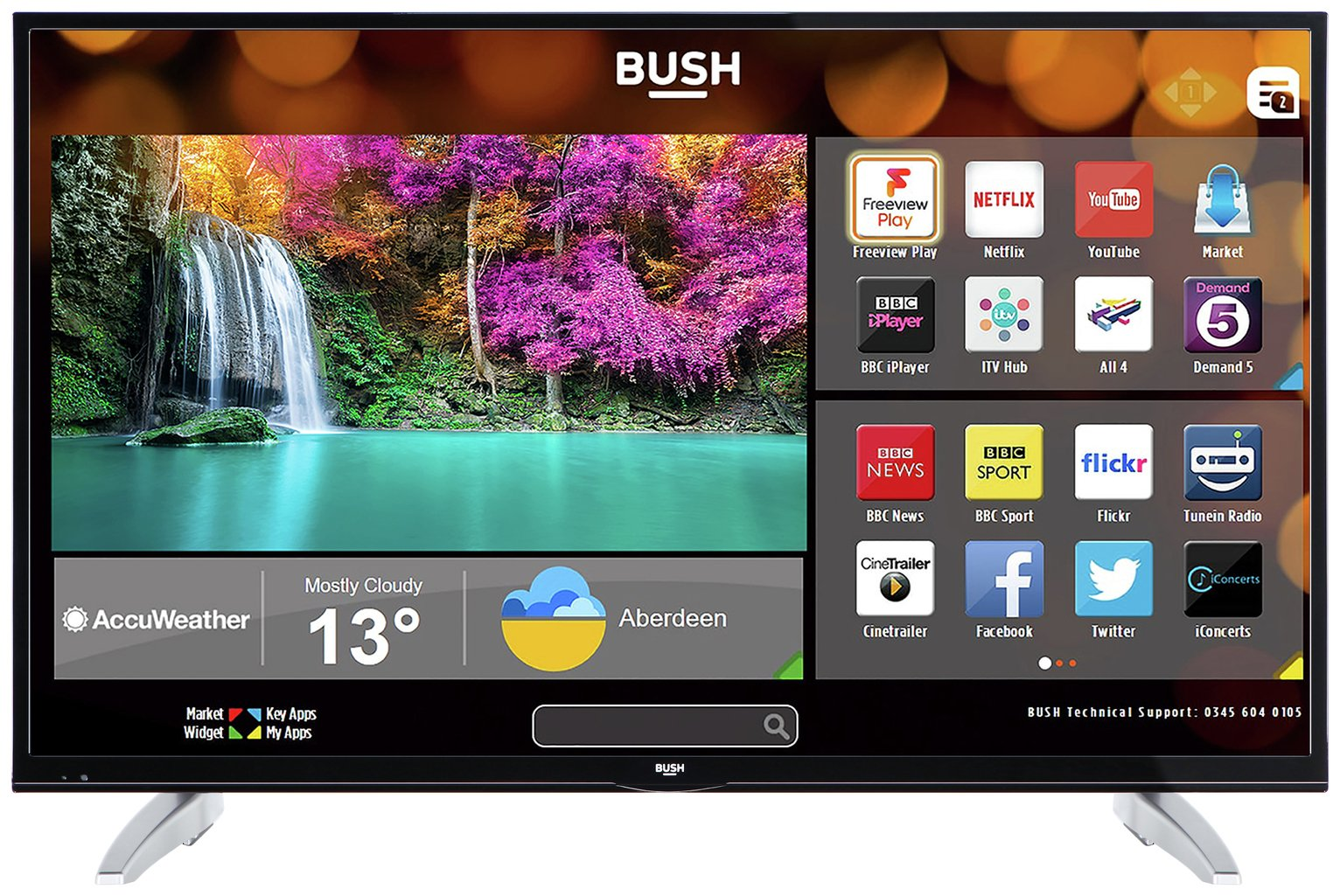 Bush 49 Inch Smart 4K UHD TV with HDR