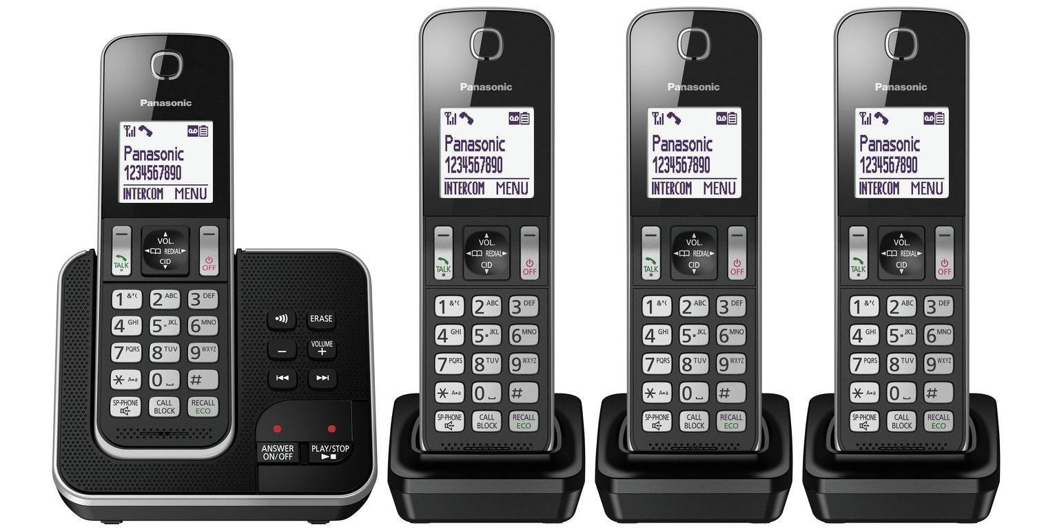 Panasonic Cordless Telephone with Answer Machine - Quad