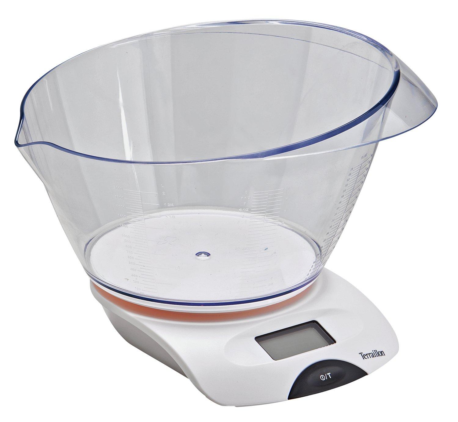 Terraillon Digital Scale with 2 Litre Bowl