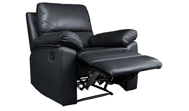 Admirable Buy Argos Home Toby Faux Leather Manual Recliner Chair Black Armchairs And Chairs Argos Unemploymentrelief Wooden Chair Designs For Living Room Unemploymentrelieforg